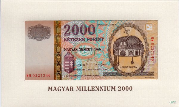 Ungarn Pick 186a - 2000 Forint Folder (1)